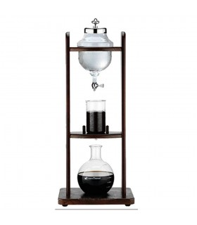 Tiamo Cold Brew Coffee Dripper 10cups Wood Tower