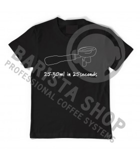Barista Shop 25-30ml in 25sec T-shirt - Μπλουζάκι Μαύρο