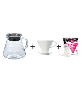 Πακέτο brewing 3 - Hario Κανάτα + Dripper V60 + Φίλτρα