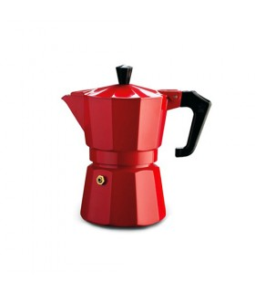 Pezzetti Italexpress Καφετιέρα Μόκα Εσπρέσο Κόκκινη 1 Φλιτζάνι