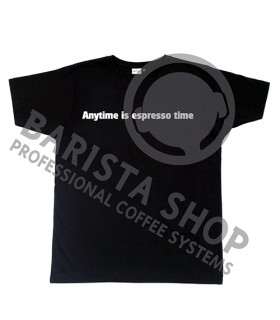 Barista Shop Anytime is espresso time T-shirt - Μπλουζάκι Μαύρο