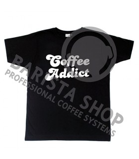Barista Shop Coffee Addict T-shirt - Μπλουζάκι Μαύρο